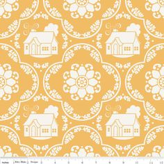 Bee in My Bonnet - Daisy Cottage - Damask in Yellow