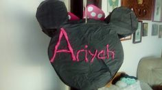 Back of Minnie mouse pinata