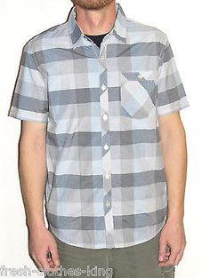 O'neill Shirt New Mens Gray Flaglan Plaid Button Up Size Small