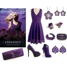 """""""Endlessly by Kiersten White inspired book look"""" by beesha1 on Polyvore"""