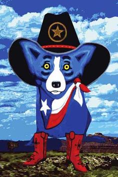 The Art of George Rodrigue Blue Dogs in Texas