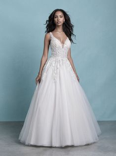 25595 - Catherine - Want to feel and look like a princess? This gown has sparkle and romance! Its stunning!  Try this beauty on at Aurora Bridal in Melbourne, FL 321-254-3880