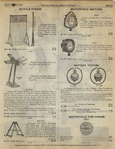 1923 Paper AD Folding Bicycle Sidewalk Stand Motorcycle Clock Watch Nebo Fiat