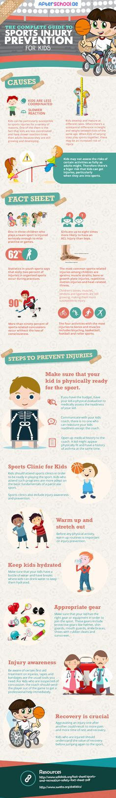 The Complete Guide to Sports Injury Prevention for Kids #infographic