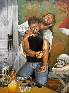 This picture is so deep and magnificently portrayed that I had to share it. I don't know who the artist is, but he's done an amazing job. At first glance, some might not get the meaning, but look closely. What is the man doing? Notice the guns, cards, alcohol, and cigarettes on the table? It doesn't take a genius to know that this man is a bad man, a criminal perhaps. He's injecting drugs into his arm, and look what it's doing to Jesus. His arm, is Jesus' arm. http://gods411.org/