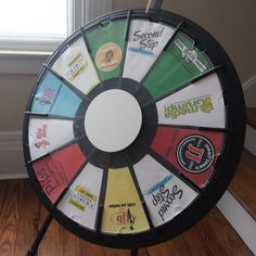 Getting the WBA Prize Wheel ready for tomorrow's Chamber Expo. Stop by the WBA booth for a chance to win fantastic giveaways from our local business members. Buy this Prize Wheel at http://PrizeWheel.com/products/tabletop-prize-wheels/tabletop-black-clicker-prize-wheel-12-slot/.