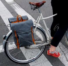 The Pannier in Gray Waxed Canvas by sketchbook on Etsy, $230.00