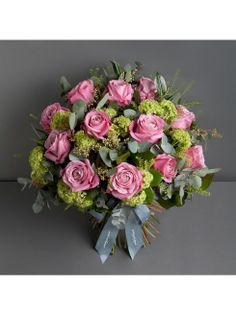 Wild At Heart - Classic All For Love Dozen  - All For Love roses, with their vibrant pink shades, have an extra large flower that makes this bouquet a luxurious Valentine�s choice.
