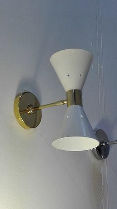 Lampada da parete STILNOVO Vintage Anni '50. Wall lamp STILNOVO Vintage 50s