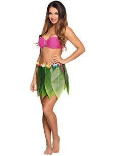 Femmes Filles 40 cm Hula jupe herbe plastique Soutien-Gorge Noix De Coco Hawaïen Plage Costume
