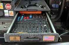 Diy tool organizer in arb drawers. Jeep Jk, Jeep Wrangler Yj, Foam Tool Organizer, Tool Organization, Ford Ranger, Offroad, Nissan, Montero Sport, Truck Tool Box