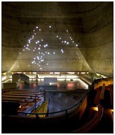 Saint-Pierre Church. Firminy, Loire, France. Designed in 1960 by Le Corbusier.