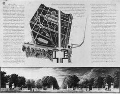 Schinkel's redesign project for the Brandenburger Tor Platz, 1835, Berlin