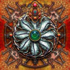 modern art Nouveau - Watersource Mandala by Steve Radic - his stuff is lovely, paintings too.