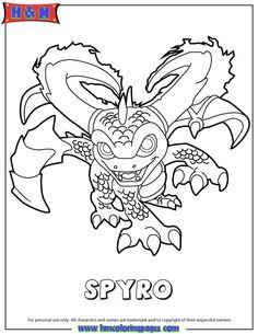 Skylanders Swap Force Magic Spyro Coloring Page