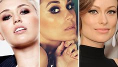 Steal These 3 Celebs' Red Carpet Eye Makeup   let's pretend that's not miley cyrus in the pic