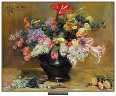 Lovis Corinth - Amaryllis, seringen en tulpen