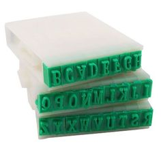 Detachable 26-Letters English Alphabet Plastic Stamp Set