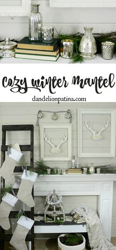 cozy winter mantel {