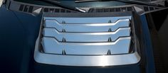 2017 Ford Raptor - Hood Vent Grille Trim Go for the polished chrome look with premium stainless steel. Made in the USA, it installs like a sticker.