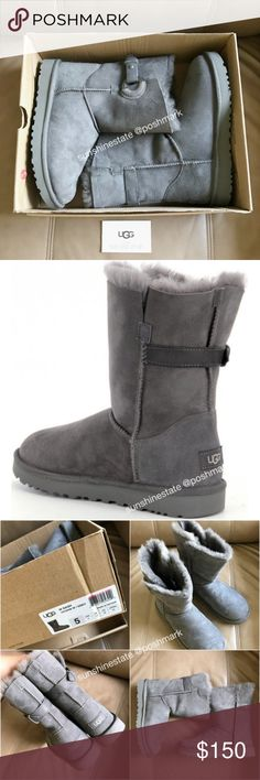 Authentic UGG Nash Genuine Shearling ankle Boot Brand new in box UGG Australia women Nash Genuine Shearling boots in pretty grey color as pictured. UGG Shoes Winter & Rain Boots