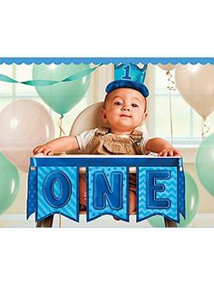 1st Birthday Boy High Chair Decorating Kit