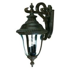 Acclaim Lighting Windsor Collection Wall-Mount 3-Light Outdoor Black Coral Light Fixture-7272BC at The Home Depot