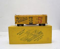 Main Line Models 40' Billboard Reefer Elwoods Root Beer Assembled Wood Kit Boxcar HO Scale at #RuthHannas