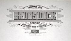 Historic type, Sanborn Fire Insurance Map, Brunswick, Georgia - July, 1920