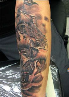 1000 images about pirate theme tattoos on pinterest pirate tattoo pirate skull and pirate. Black Bedroom Furniture Sets. Home Design Ideas