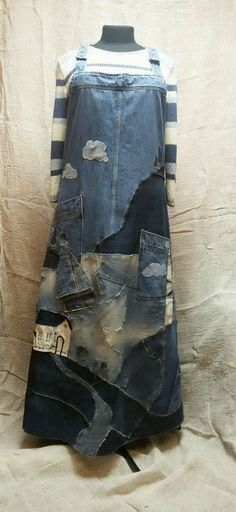 Recycled Fashion, Recycled Denim, Recycled Clothing, Thrift Store Refashion, Sweater Refashion, Refashion Dress, Newspaper Dress, Denim Art, Denim Ideas