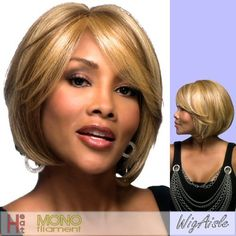 LENI-V (Vivica A. Fox) - Futura Fiber Mono Full Wig in OFF BLACK by Vivica A. Fox. $68.95. Styling required to achieve the exact look shown. Futura Synthetic Full Cap Wig. Short length. Straight style. Average cap size. Color 1B is OFF BLACK. The color you receive may vary from the swatch shown due to your monitor and the distribution of the color fibers dictated by the style.. Color shown is P2216. Color 1B is OFF BLACK (Color shown is P2216) - Handmade side mono skin swoop bang...