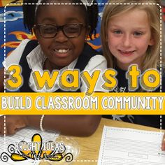 Just a few quick ideas for how to build classroom community.