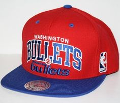 Mitchell  amp  Ness Washington Bullets NBA Team Arch Throwback Snap Back Hat  by Mitchell  amp 19898064c2d