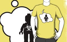 Radioactive Minifig Master T-shirt by Bubble-Tees.com by Bubble-Tees