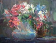 "Daily+Paintworks+-+""Coral+Bouquet""+-+Original+Fine+Art+for+Sale+-+©+Mary+Maxam"