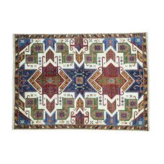 1800getarug Colorful Pure Star Kazak Hand-knotted Rug