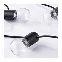 SVARTRÅ LED ljusslinga med 12 ljus  - IKEA - 299 kr