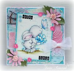 Jenine's Card Ideas: Sizzix - Bunny with Butterfly