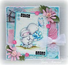 Jenine's Card Ideas: Sizzix - Bunny with Butterfly