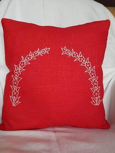 Deko KissenbezugDeko Throw Pillows, Environment, Decorative Pillow Covers, Red Color, Linen Fabric, Threading, Gifts, Cushions, Decorative Pillows
