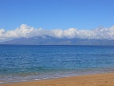 from the Westin Villas beach in Maui