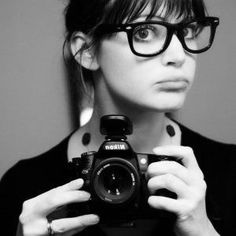 Girl with nerdy glasses