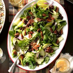 Perfect Winter Salad Recipe -This is my most-requested salad recipe. Serve it as a side salad along with your holiday meal, or enjoy it for lunch the next day with cubed turkey or chicken on top. —DeNae Shewmake, Burnsville, Minnesota