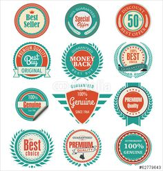 Vector: Premium quality badges and labels