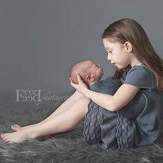 big sister and newborn baby photos - Google Search