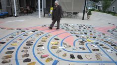 I created this Labyrinth at ElderSpirit Community in Abingdon, VA.  I is a meditative adventure with flexible features.
