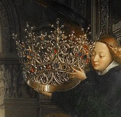 Jan van Eyck -- Madonna of Chancellor Rolin, detail