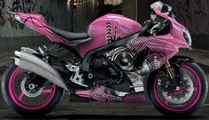 Bikeskinz - Motorcycle Wrap - Magical DJ Pink - but in hot pink...