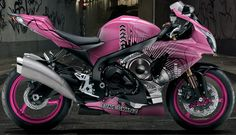 Bikeskinz - Motorcycle Wrap - Magical DJ Pink - but in hot pink...